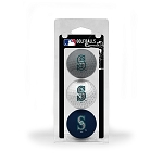 Seattle Mariners 3 Ball Clamshell Golf Gift