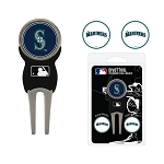 Seattle Mariners Divot Tool Set of 3 Markers Golf Gift
