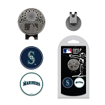 Seattle Mariners 2 Marker Cap Clip Golf Gift
