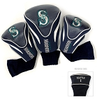 Seattle Mariners MLB Set Of 3 Contour Head Covers Golf Gift