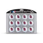 St. Louis Cardinals Dozen Pack Balls Golf Gift
