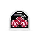 St. Louis Cardinals MLB Poker Chip Gift Set Golf Gift