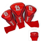 St. Louis Cardinals MLB Set Of 3 Contour Head Covers Golf Gift