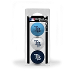 Tampa Bay Rays 3 Ball Clamshell Golf Gift