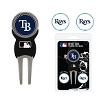 Tampa Bay Rays Divot Tool Set of 3 Markers Golf Gift