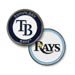 Tampa Bay Rays Double Sided Ball Marker Golf Gift