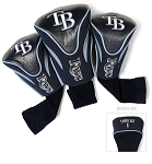 Tampa Bay Rays MLB Set Of 3 Contour Head Covers Golf Gift