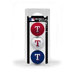 Texas Rangers 3 Ball Clamshell Golf Gift