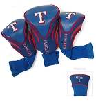 Texas Rangers MLB Set Of 3 Contour Head Covers Golf Gift