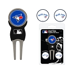 Toronto Blue Jays Divot Tool Set of 3 Markers Golf Gift