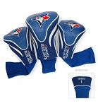 Toronto Blue Jays MLB Set Of 3 Contour Head Covers Golf Gift