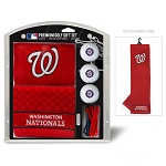 Washington Nationals Embroidered Gift Set Golf Gift