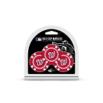 Washington Nationals MLB Poker Chip Gift Set Golf Gift