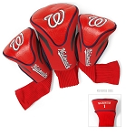 Washington Nationals MLB Set Of 3 Contour Head Covers Golf Gift