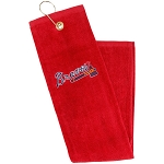 Atlanta Braves Embroidered Golf Towel