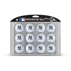 New York Yankees Dozen Pack Balls Golf Gift