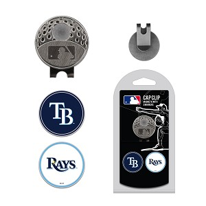 Tampa Bay Rays 2 Marker Cap Clip Golf Gift